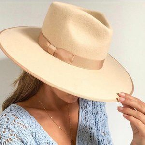 LACK OF COLOR IVORY RANCHER WOOL FEDORA HAT SMALL